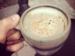 This chai is so good, we want to run away with it.