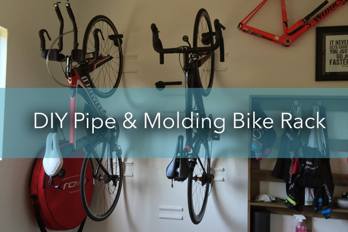 DIY Pipe & Molding Bike Rack