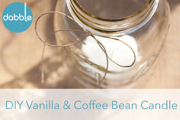DIY Vanilla & Coffee Bean Candle