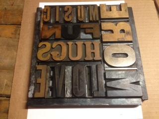 Dabble Drop In: Wood Type Letterpress Posters