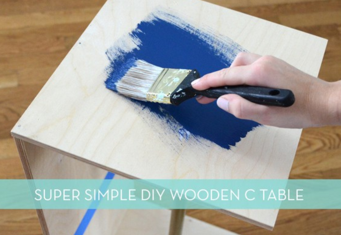 How To Build An Incredibly Easy Wooden C Table