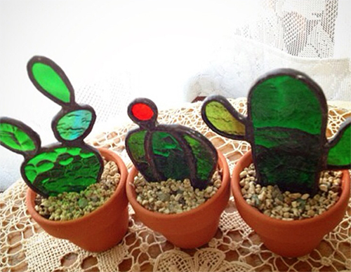 SUPER DABBLER: Stained Glass Flowers and Cacti